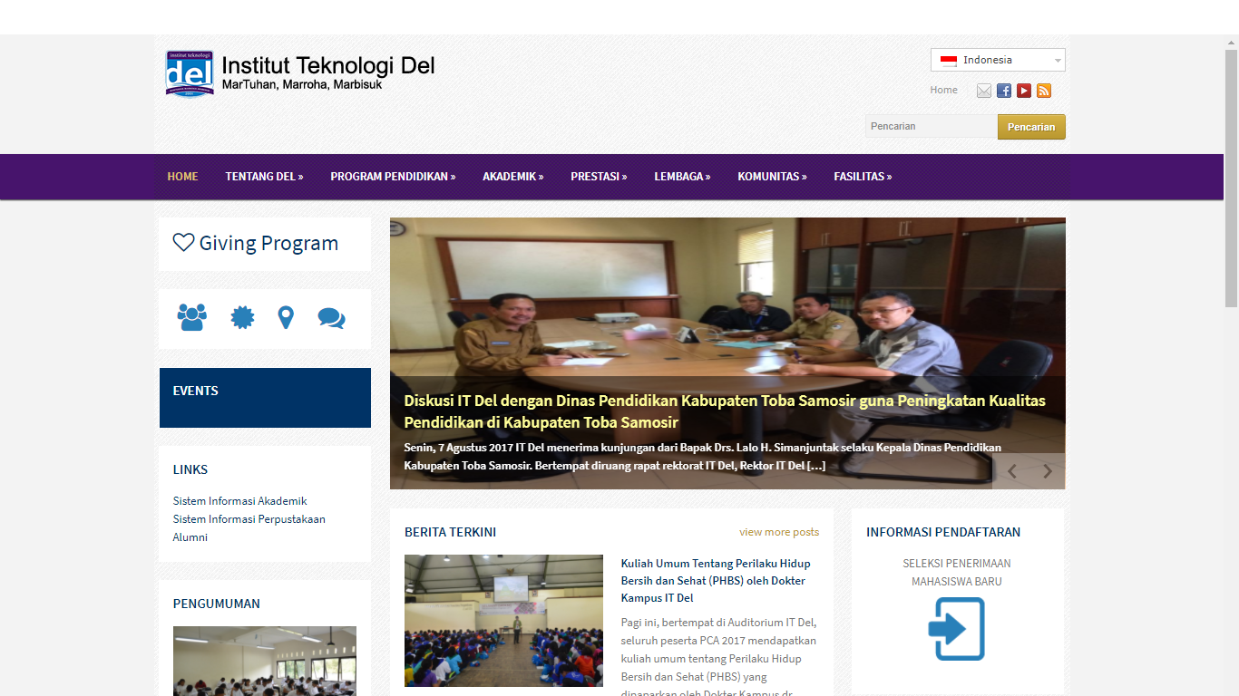 Portal Informasi Insitut Teknologi Del